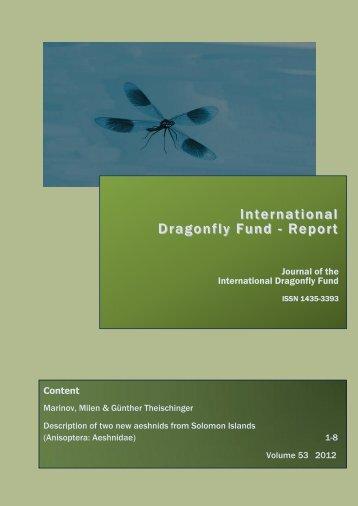 (Anisoptera: Aeshnidae) Milen Marinov - International Dragonfly ...