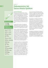 Dekompression bei Sulcus-ulnaris-Syndrom