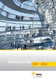 Geschäftsbericht 2011/2012 - BDPK