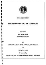 One Day Seminar on Issues in Construction Contracts