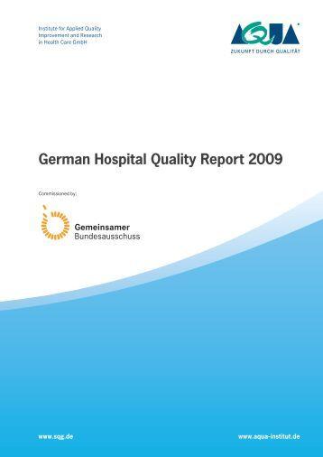 German Hospital Quality Report 2009 (PDF; 6.7 MB - SQG