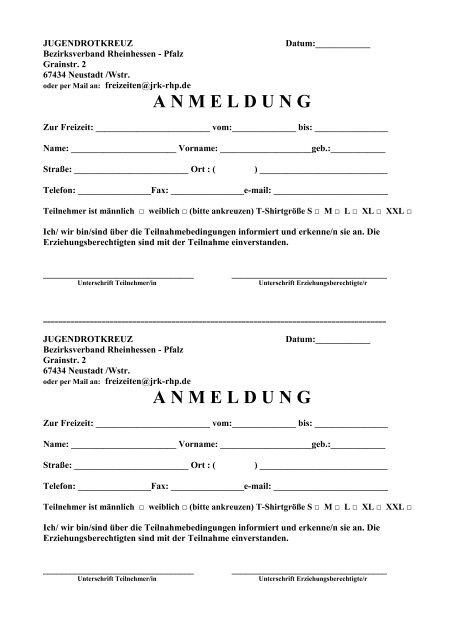 anmeldung - DRK Bezirksverband Rheinhessen-Pfalz