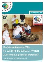 JRK Bezirkswettbewerb 2009 Schulsanitätsdienst - DRK ...