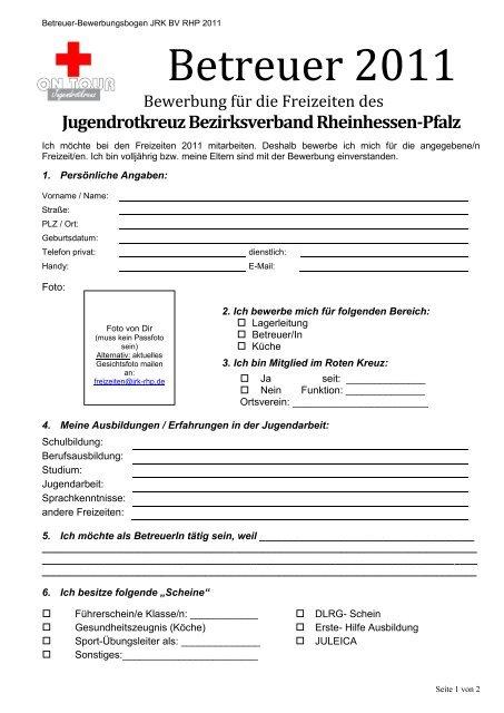 Jugendrotkreuz Bezirksverband Rheinhessen-Pfalz - DRK ...