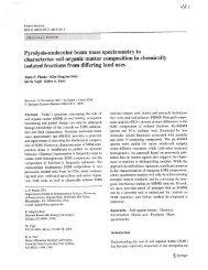 Pyrolysis-molecular beam mass spectrometry to characterize soil ...