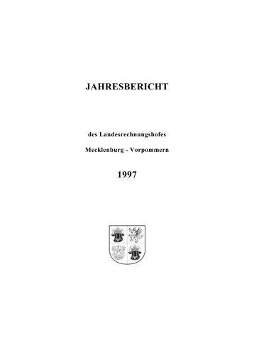 jahresbericht 1997 - Landesrechnungshof Mecklenburg-Vorpommern