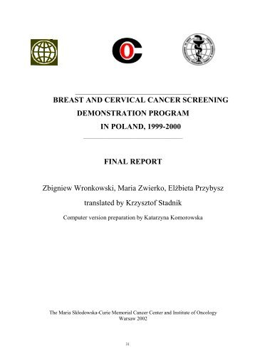 BREAST AND CERVICAL CANCER SCREENING ...