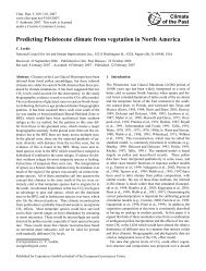 Predicting Pleistocene climate from vegetation in North America