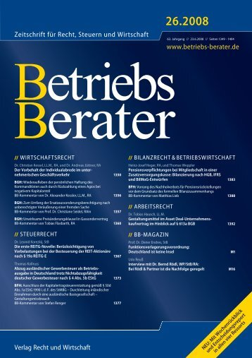 BB 26.2008.pdf - Notar Dr. Tobias Hausch in Düsseldorf