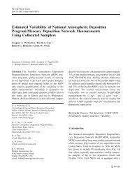 Estimated Variability of National Atmospheric Deposition Program ...