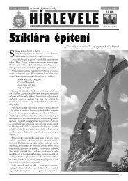 2010/2. Hírlevél - Bencés Diákszövetség