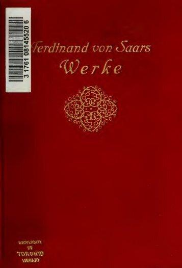 Ferdinand von Saars Leben und Schaffen