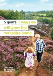 5 years. 5 ways we will grow the Yorkshire brand.