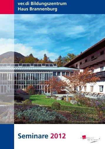 Seminare 2012 - Haus Brannenburg
