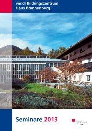 Seminare 2013 - Haus Brannenburg