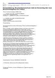 Pressemitteilung: Braunkohlenausschuss redet am ... - CL-Netz
