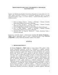 Dr Snežana Branković Nikšić - Medicinski fakultet - Univerzitet u ...
