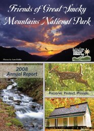 Friends of Great Smoky Mountains National Park - Friends of the ...