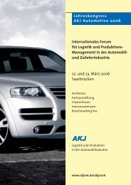 Internationales Forum für Logistik und Produktions ... - AKJ Automotive