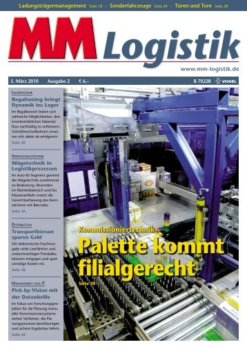 Palette kommt filialgerecht - MM Logistik - Vogel Business Media