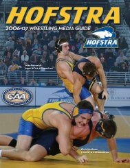 Mike Patrovich 2006 NCAA All-American Chris ... - Hofstra University