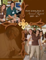 2009-10 Annual Report Magazine.pdf - Pope John Paul II High School