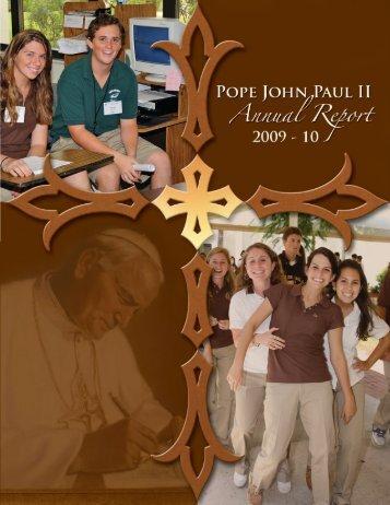 2009-10 Annual Report Magazine.pdf - Pope John Paul II High School