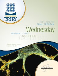 nanosymposium - Society for Neuroscience