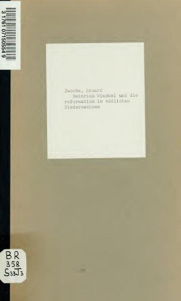 Heinrich Winckel und die Reformation im südlichen Niedersachsen