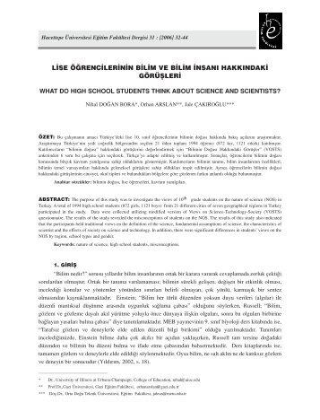 (04) Nihal DoÛan Bora - Hacettepe Üniversitesi Eğitim Fakültesi ...