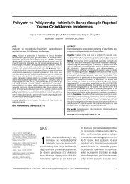 Psikiyatri ve Psikiyatrid›fl› Hekimlerin Benzodiazepin Reçetesi ...