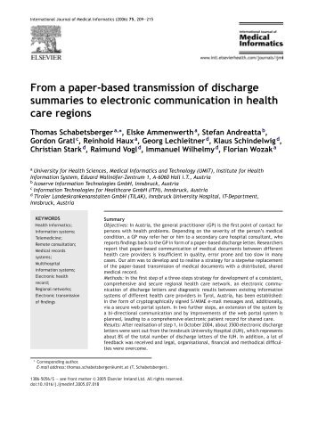 From a paper-based transmission of discharge summaries to ...