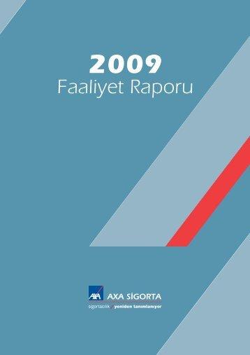 Faaliyet Raporu 2009 - Axa Sigorta