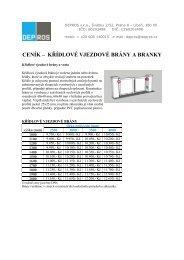 Ceník křídlové vjezdové brány a branky (91.90 Kb
