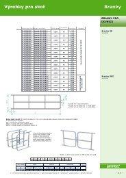 Výrobky pro skot Branky - FARMTEC, as