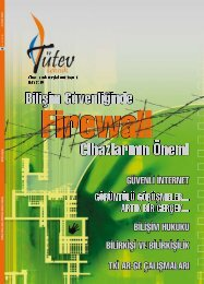 Tutev Teknik Dergisi 18.sayı - Türkiye Teknik Elemanlar Vakfı