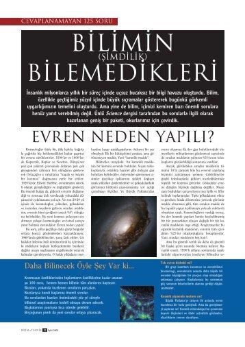 Bilimin (Şimdilik) Bilemedikleri Eyl 05