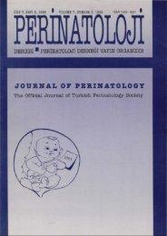 S - Perinatoloji Dergisi
