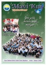 Sayı 74 - Gazi Üniversitesi Vakfı Özel Okulları