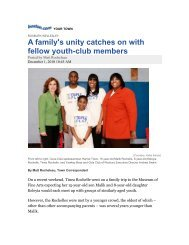 A family's unity catches on with fellow youth-club members