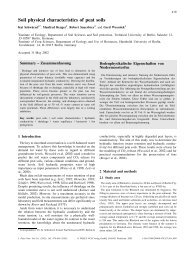 Soil physical characteristics of peat soils - Institut für Bodenkunde ...