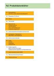 Produktdatenblätter Daten nach Produktgruppen - bau docu ...