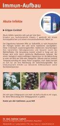 Immun-Aufbau Akute Infekte - Dr. med. Andreas Laetsch