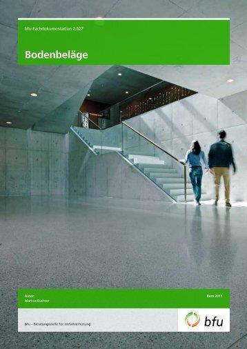 Bodenbeläge - BfU