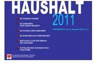 Haushalt 2011
