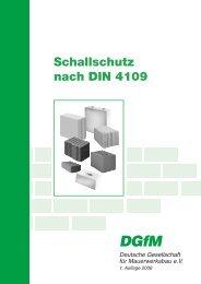 DGfM Merkblatt: Schallschutz nach DIN 4109 - Xella