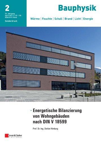 Energetische Bilanzierung von Wohngebäuden nach DIN V 18599