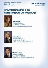 zusatz- förderungen - Volksbank Tirol Innsbruck-Schwaz AG