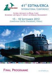 41 EDTNA/ERCA - 41st EDTNA/ERCA International Conference