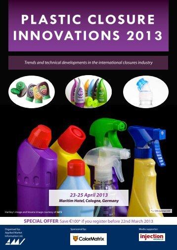 plastic closure innovations 2013 conference information - Amiplastics